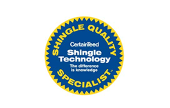 Shingle Quality Specialist CertainTeed Shingle Technology The difference is knowledge Logo
