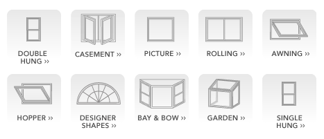 Replacement window types from City Roofing & Siding in Southington, CT.